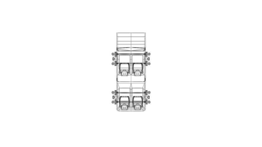 Roller Coaster Cart royalty-free 3d model - Preview no. 8