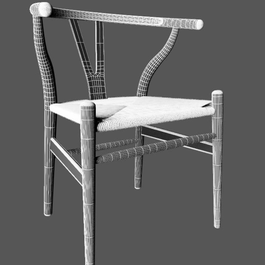 Wishbone-stol royalty-free 3d model - Preview no. 6