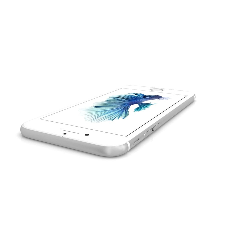 Apple iPhone 6s Gümüş royalty-free 3d model - Preview no. 7