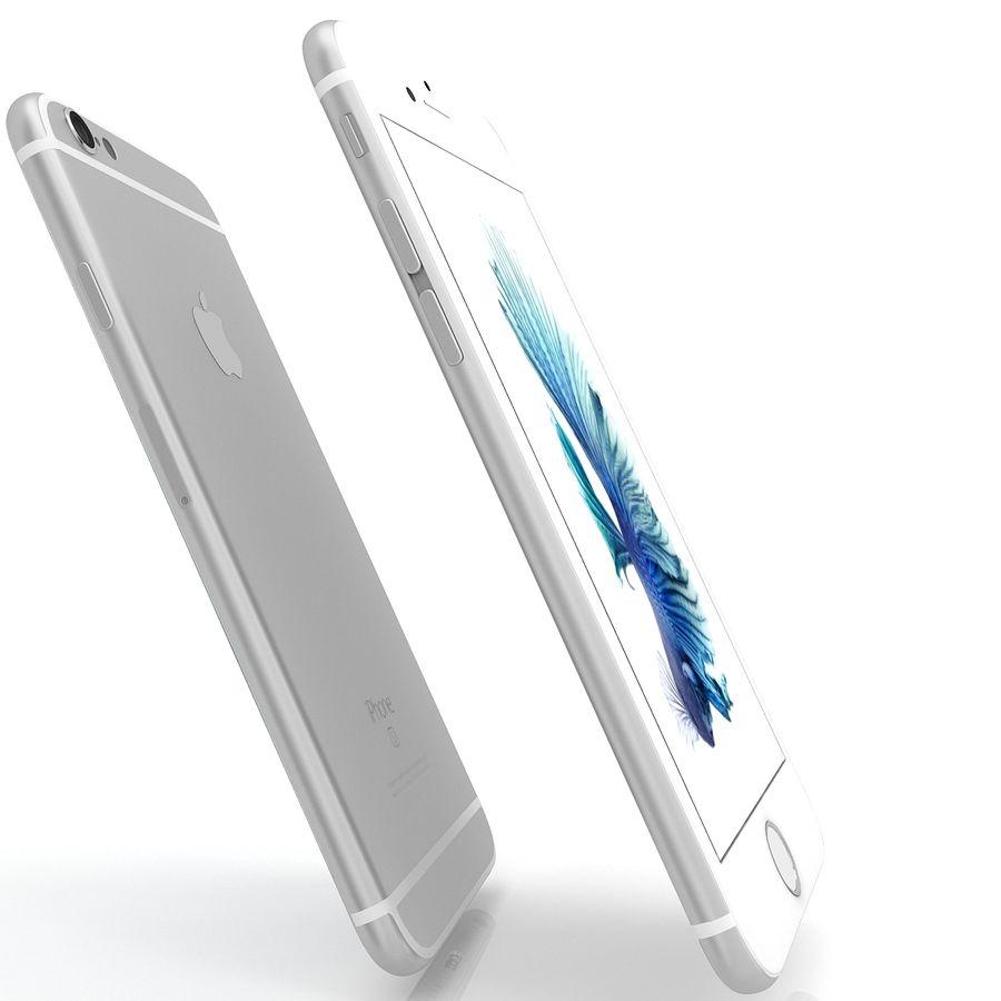 Apple iPhone 6s Gümüş royalty-free 3d model - Preview no. 6
