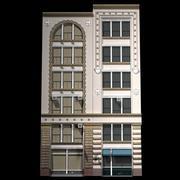 뉴욕 역사적인 건물 외관 3d model