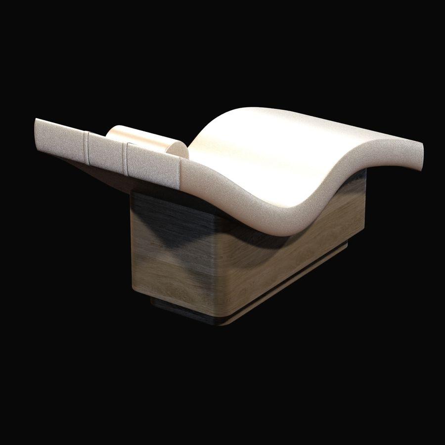 生きている地球の工芸品による波ラウンジャー royalty-free 3d model - Preview no. 3