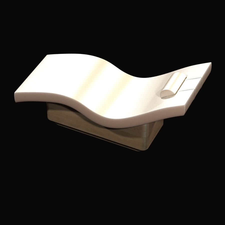 生きている地球の工芸品による波ラウンジャー royalty-free 3d model - Preview no. 4