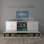 Pottery Barn, Cameron Low Storage System con basi aperte. 3d model