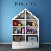 Pottery Barn Kids, Librerie 3d model