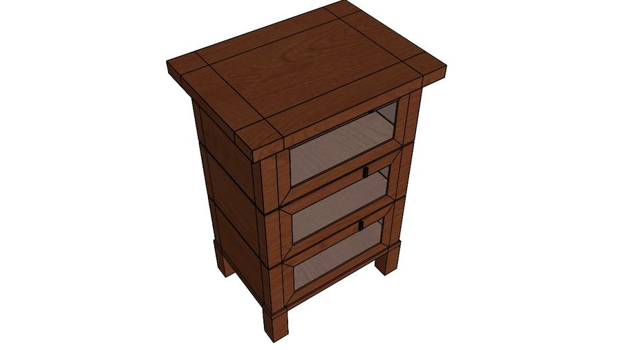 Gabinete royalty-free 3d model - Preview no. 4