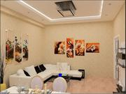 sala de jantar design de interiores 3d model