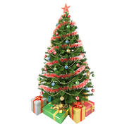 Weihnachtsbaum und Geschenke 3d model