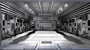 Scifi_hanger 3d model