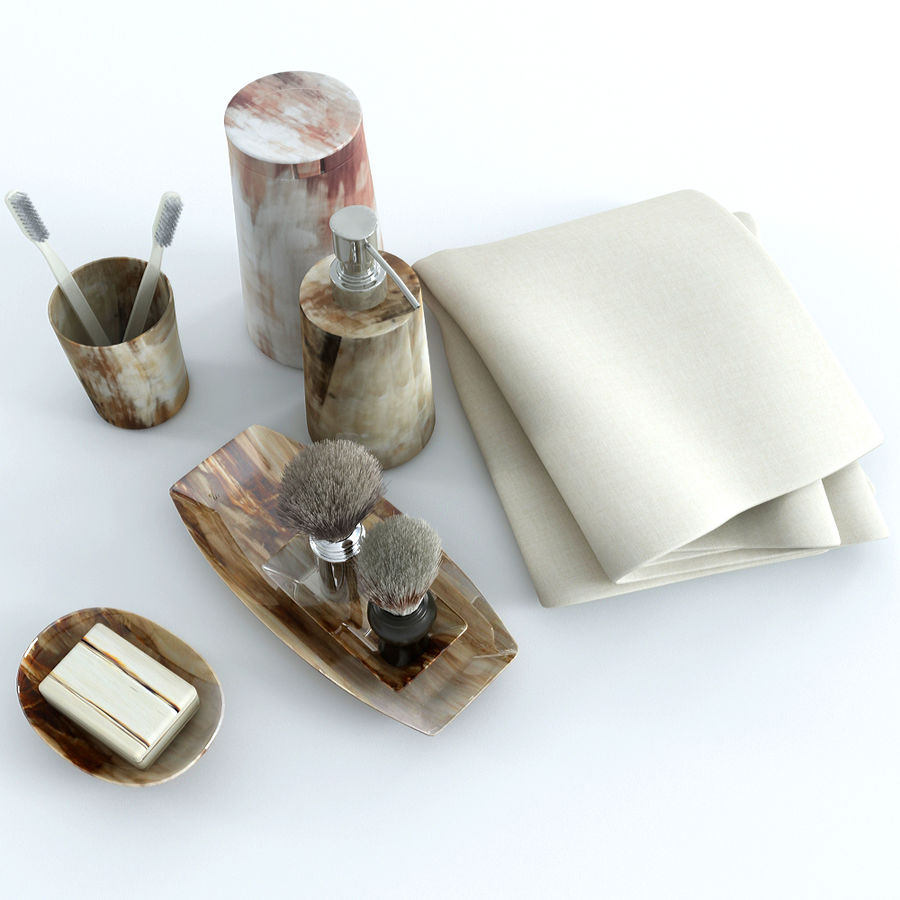 Bathroom Accessories royalty-free 3d model - Preview no. 7
