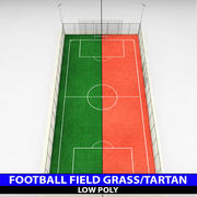 Futbol Futbol Stadyumu alan düşük Poli 3d model
