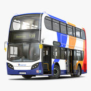 Bus Enviro400 Rigged Modèle 3D 3d model