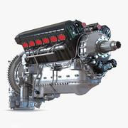 Vecchio modello 3D del motore aeronautico a pistoni 3d model