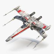 Star Wars X Wing Starfighter Red 3d model