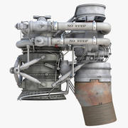 火箭发动机 3d model