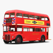 London Bus Routemaster Rigged Modèle 3D 3d model