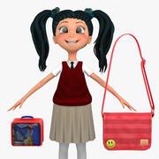 Girl Student 5c (sweter kamizelka) 3d model