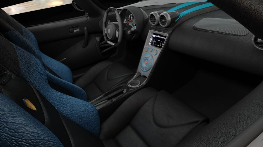 Koenigsegg Agera 2011 royalty-free 3d model - Preview no. 9