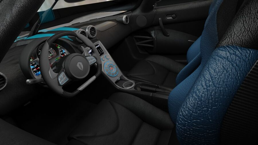 Koenigsegg Agera 2011 royalty-free 3d model - Preview no. 8