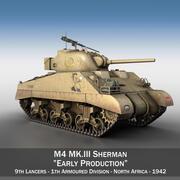 M4 Sherman MK III - Prima produzione 3d model