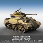 M4 Sherman MK.III - Барфорд-Сен-Мартен 3d model