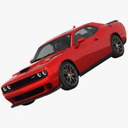 Dodge Challenger SRT HELLCAT 2016 3d model