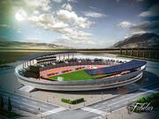 Stadion 02 + Miljö 3d model