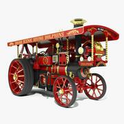 Burrell Steam Road Locomotive - Dolphin 3d model