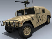 M1025A2 HMMWV (US Army Desert) 3d model