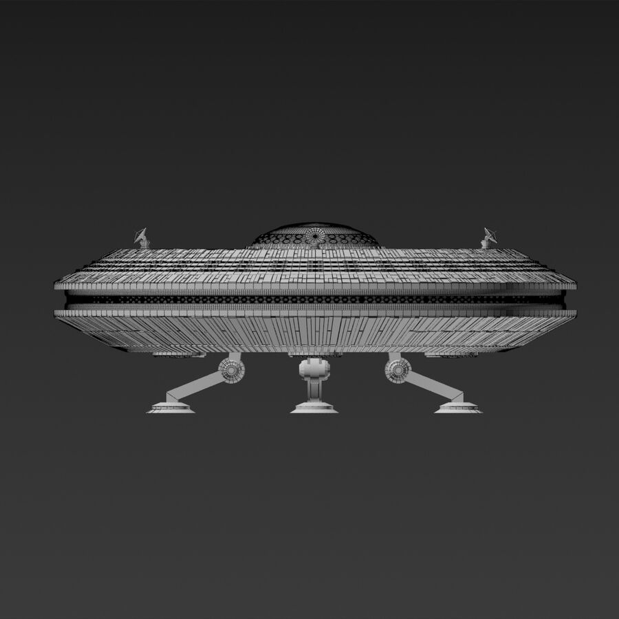 UFO royalty-free 3d model - Preview no. 9