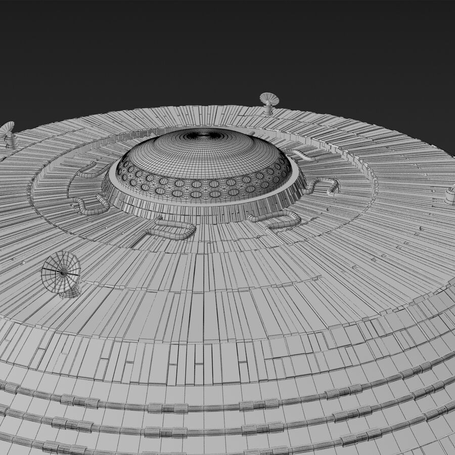 UFO royalty-free 3d model - Preview no. 11