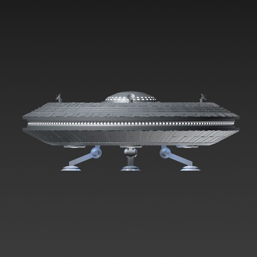 UFO royalty-free 3d model - Preview no. 3
