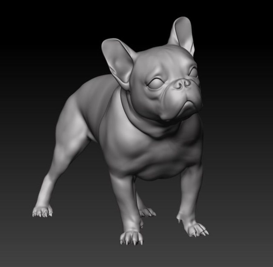 bulldog francese royalty-free 3d model - Preview no. 1