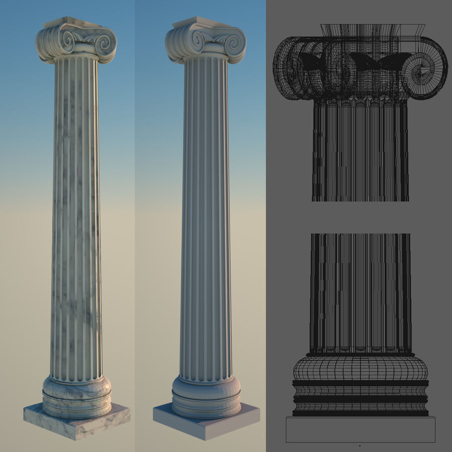 Greek Column Collection royalty-free 3d model - Preview no. 4
