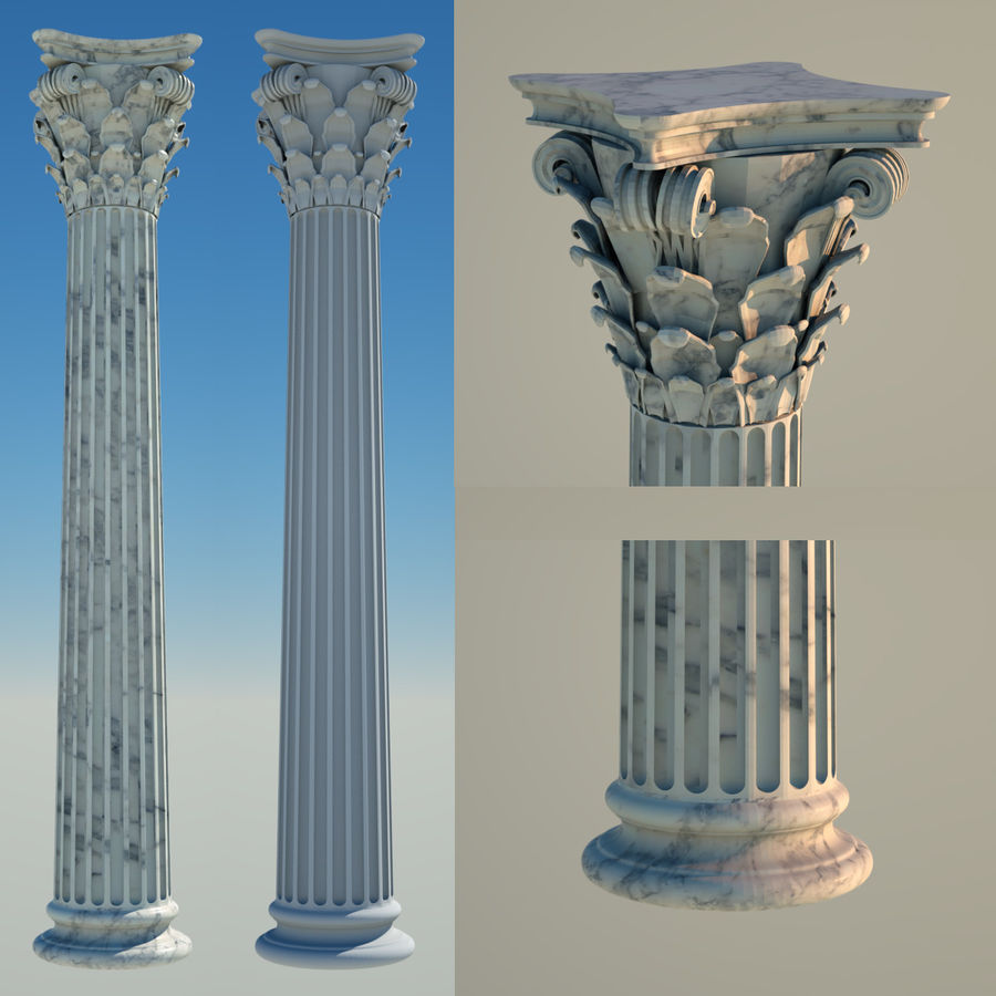 Greek Column Collection royalty-free 3d model - Preview no. 13