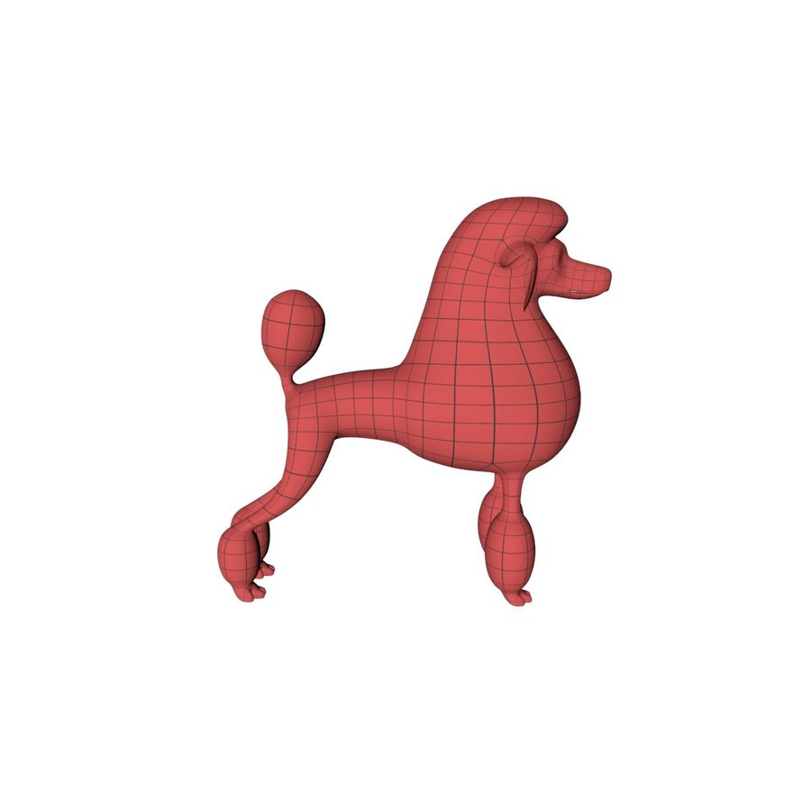 Poodle base mesh royalty-free 3d model - Preview no. 1