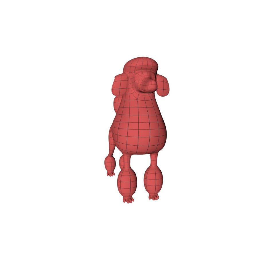 Poodle base mesh royalty-free 3d model - Preview no. 3