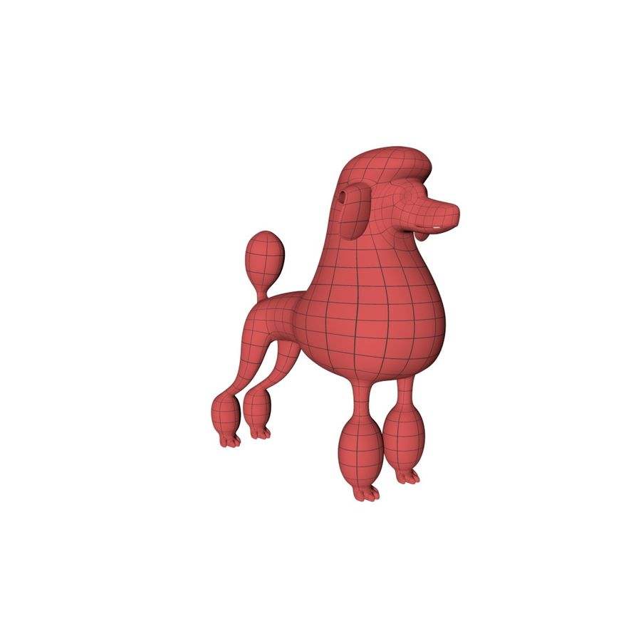Poodle base mesh royalty-free 3d model - Preview no. 2