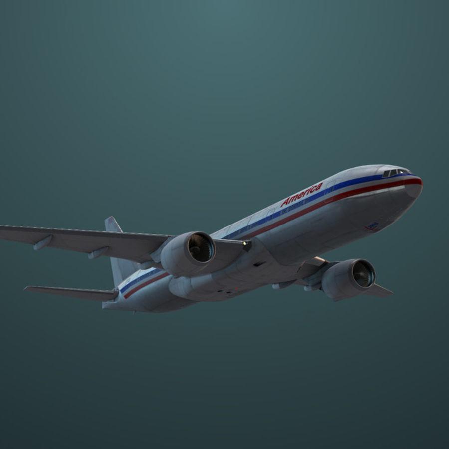 Самолет royalty-free 3d model - Preview no. 5