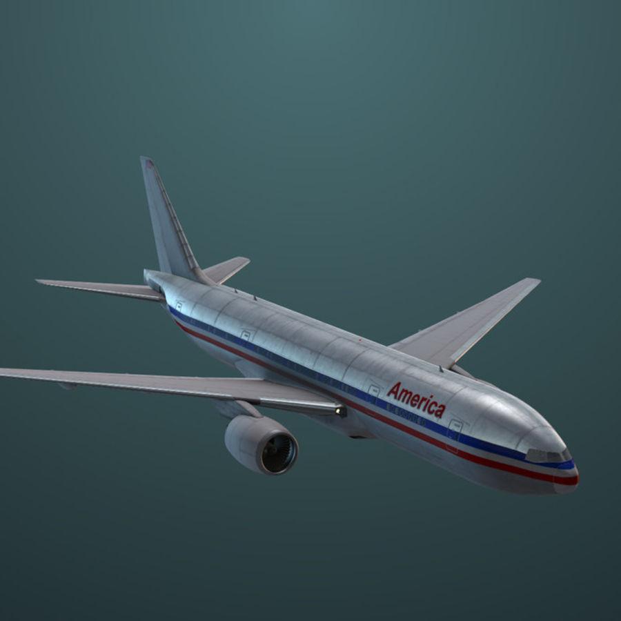 Самолет royalty-free 3d model - Preview no. 4