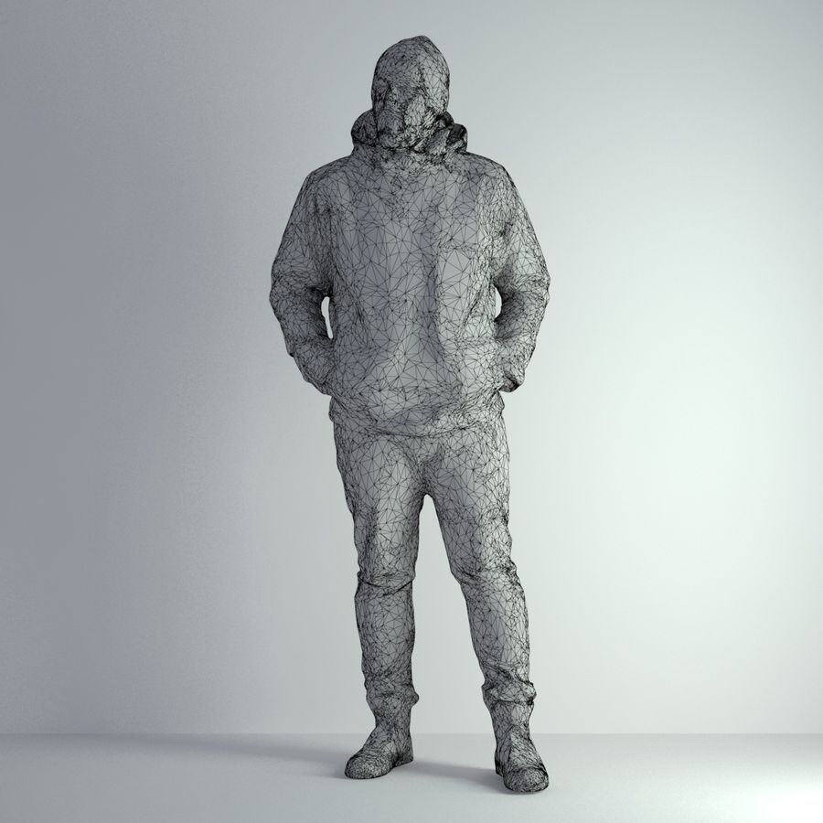 3D Scan Man Winter 001 royalty-free 3d model - Preview no. 2