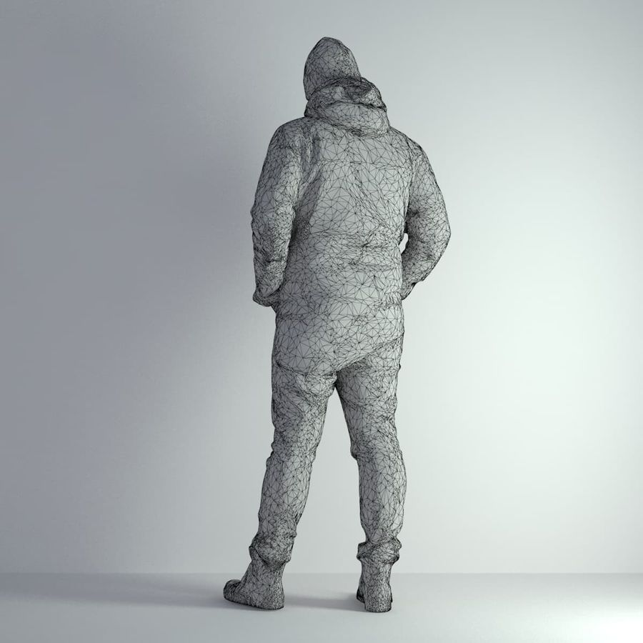 3D Scan Man Winter 001 royalty-free 3d model - Preview no. 4