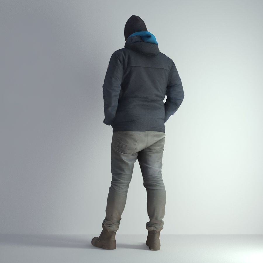 3D Scan Man Winter 001 royalty-free 3d model - Preview no. 3