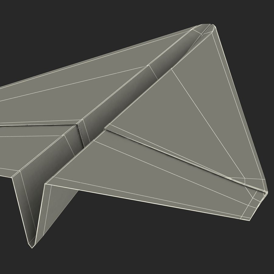 Pappersplan 6 royalty-free 3d model - Preview no. 26
