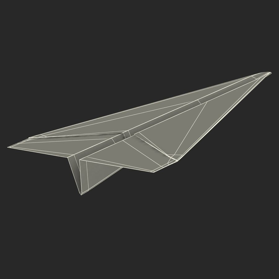 Pappersplan 6 royalty-free 3d model - Preview no. 23
