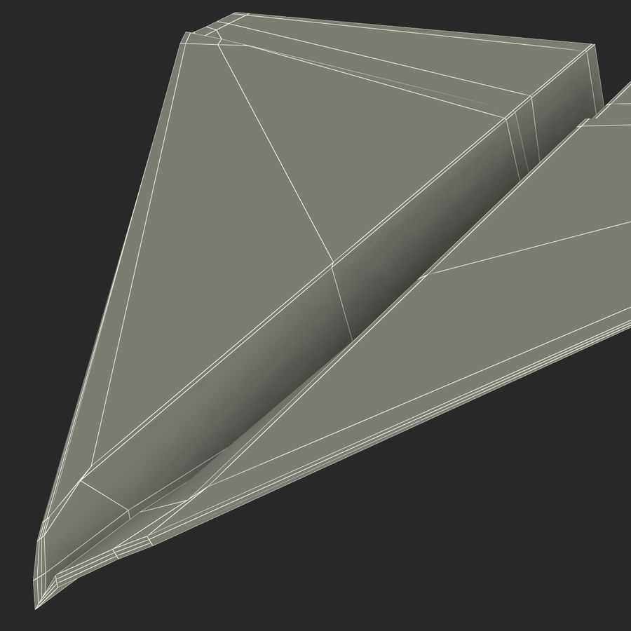 Pappersplan 6 royalty-free 3d model - Preview no. 25