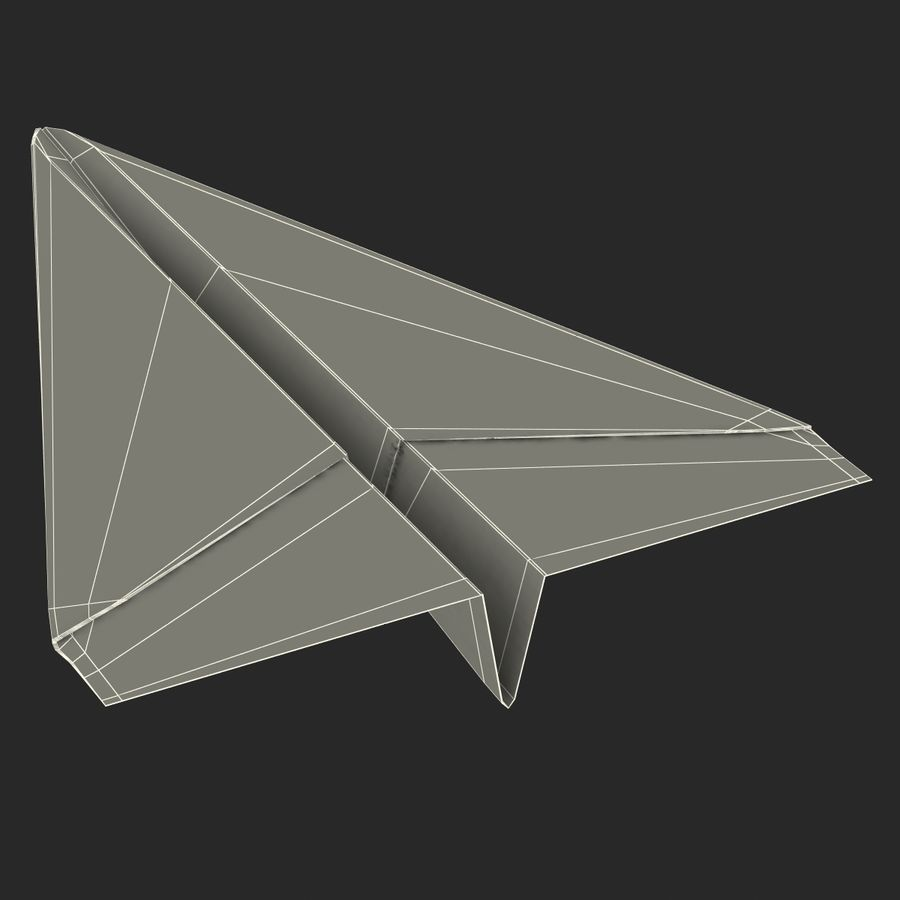 Pappersplan 6 royalty-free 3d model - Preview no. 22