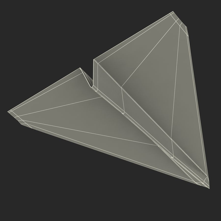 Pappersplan 6 royalty-free 3d model - Preview no. 24