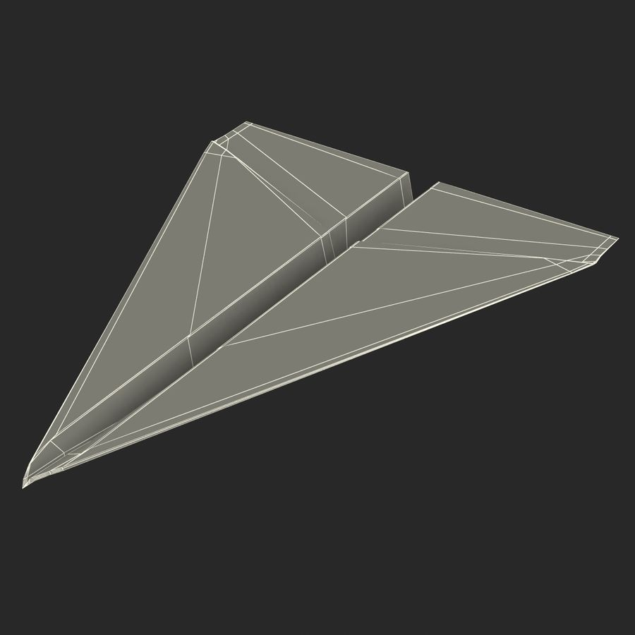 Pappersplan 6 royalty-free 3d model - Preview no. 20