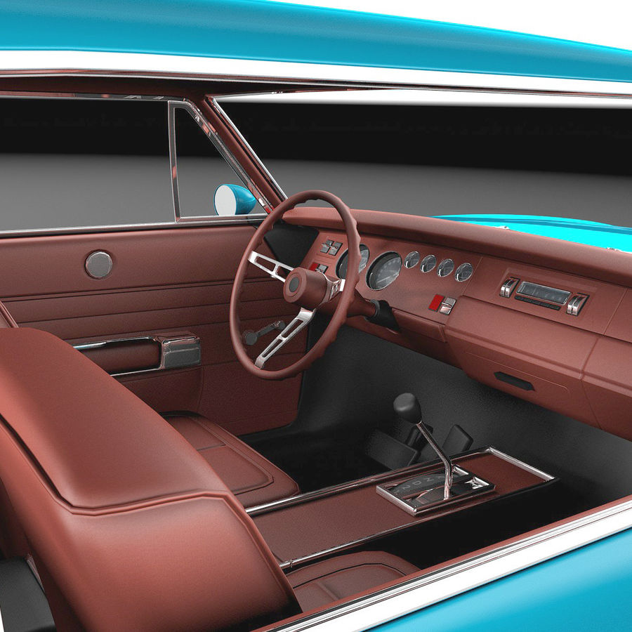 Dodge Charger Pro Touring 1968-1969 royalty-free 3d model - Preview no. 9